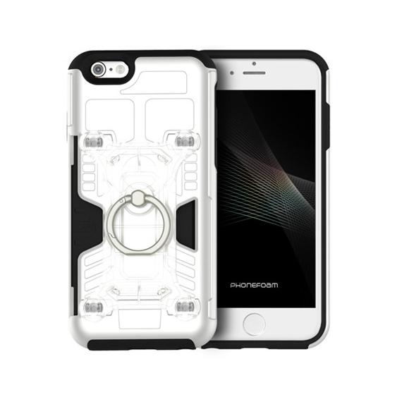 磁気エラー防止シート付属 PhoneFoam FURY リング版 ホワイト iPhone 6s/6