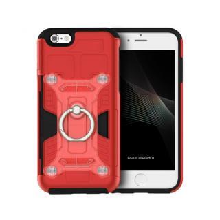 磁気エラー防止シート付属 PhoneFoam FURY リング版 レッド iPhone 6s/6