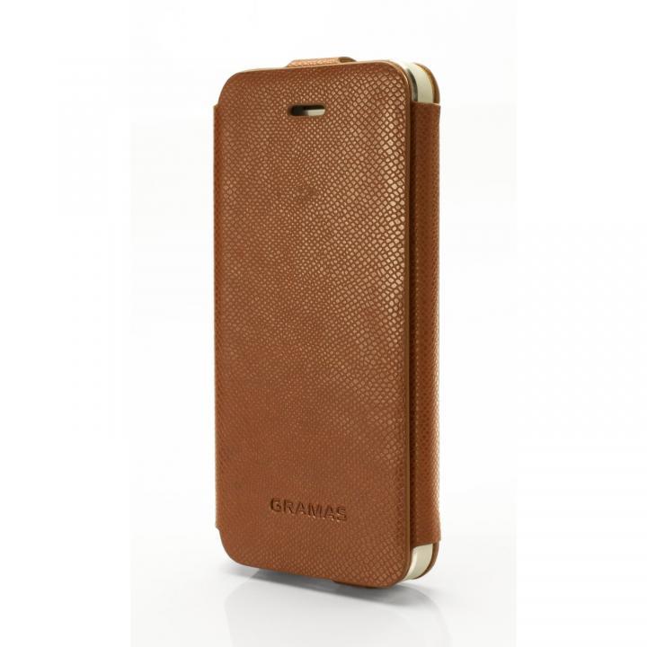手入れの簡単なPUレザー PRECISION アンバー iPhone 5s/5手帳型ケース