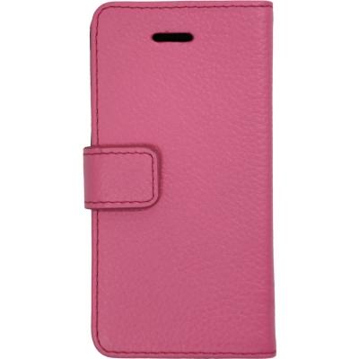 【iPhone SE/5s/5】 Highend Berry フェアリーピンク レザー 手帳型ケース