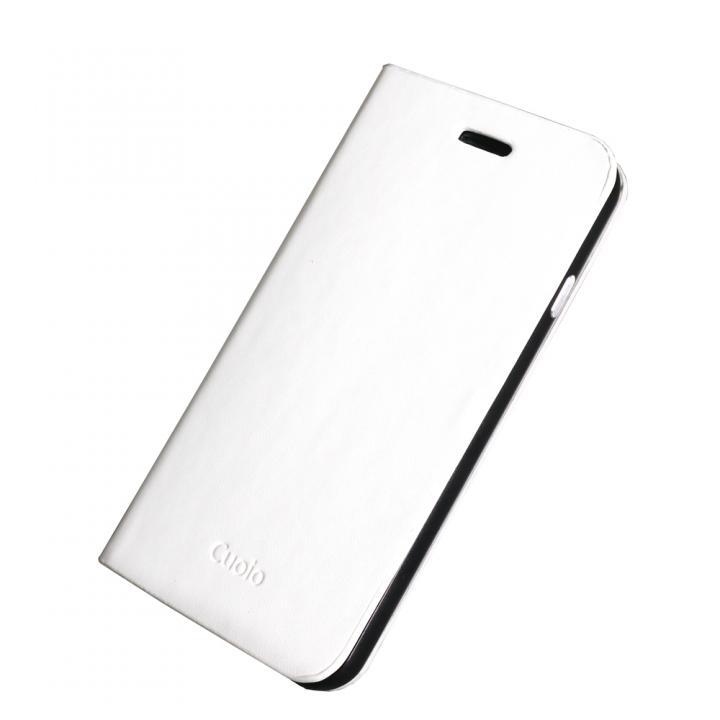 【iPhone6ケース】手帳×アルミバンパーケース Cuoio 白×ブラック iPhone 6_0