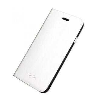 手帳×アルミバンパーケース Cuoio 白×ブラック iPhone 6