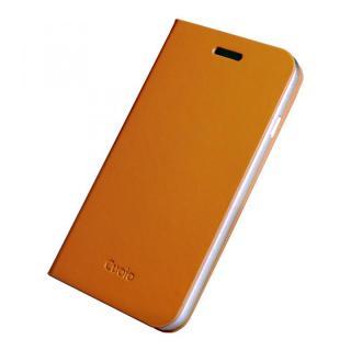 手帳×アルミバンパーケース Cuoio 茶×シルバー iPhone 6