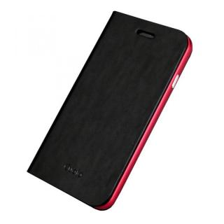 手帳×アルミバンパーケース Cuoio 黒×レッド iPhone 6