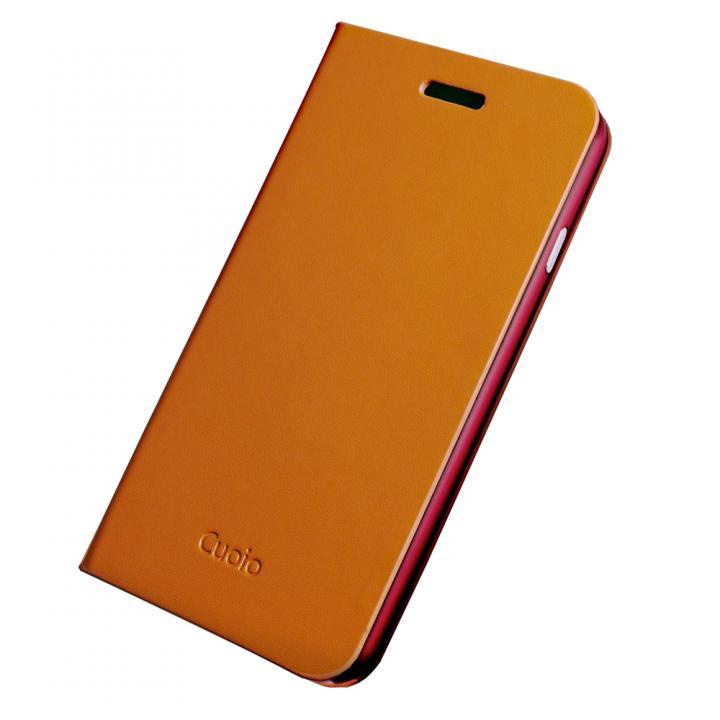 手帳×アルミバンパーケース Cuoio 茶×レッド iPhone 6