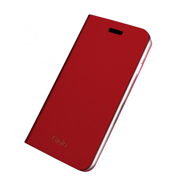 手帳×アルミバンパーケース Cuoio 赤×シルバー iPhone 6
