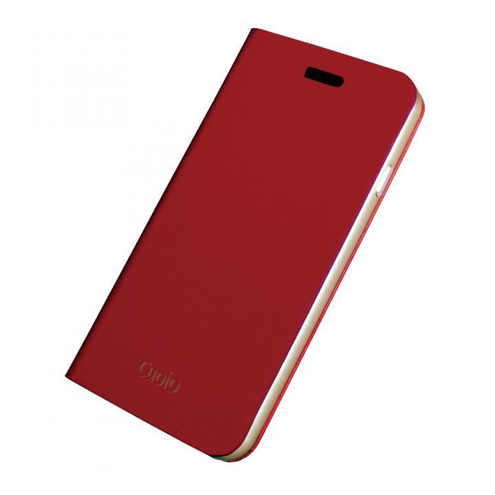 【iPhone6ケース】手帳×アルミバンパーケース Cuoio 赤×ゴールド iPhone 6_0
