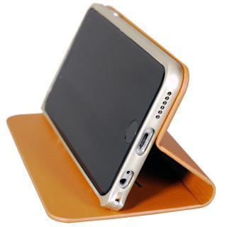 【iPhone6ケース】手帳×アルミバンパーケース Cuoio 黒×ゴールド iPhone 6_7