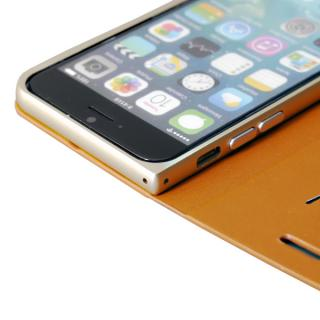 【iPhone6ケース】手帳×アルミバンパーケース Cuoio 黒×レッド iPhone 6_5