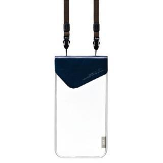 オシャレに防水 bikit(プレミアム) スマートフォン用ファッション防水ポーチ ネイビー