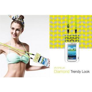 オシャレに防水 bikit スマートフォン用ファッション防水ポーチ ダイアモンド