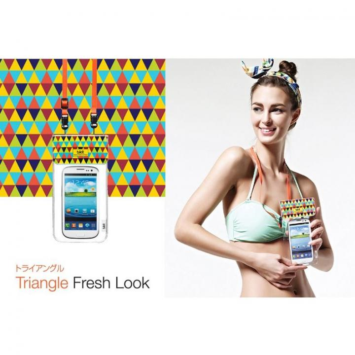 iPhone SE/5s/5 ケース オシャレに防水 bikit スマートフォン用ファッション防水ポーチ トライアングル_0