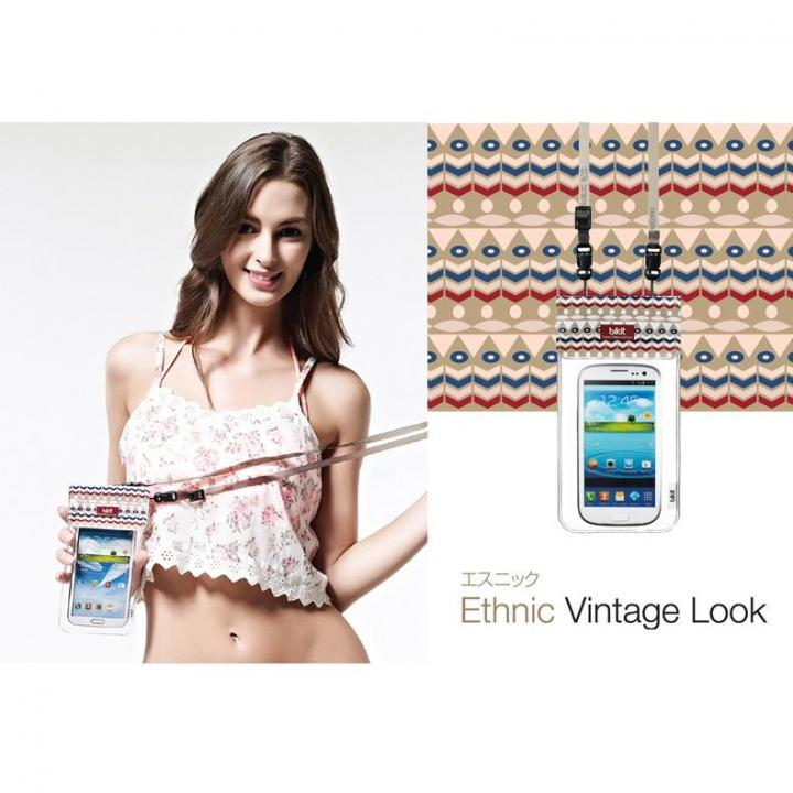 iPhone SE/5s/5 ケース オシャレに防水 bikit スマートフォン用ファッション防水ポーチ エスニック_0