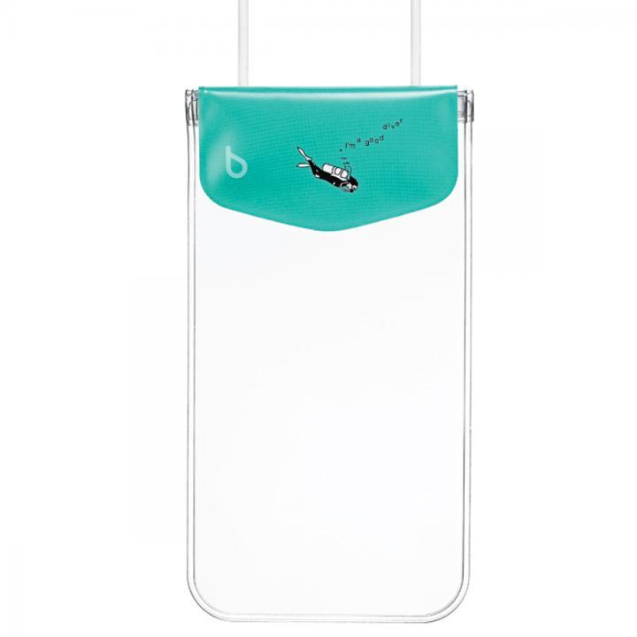 【iPhone SE/6/6 Plusケース】bikit スマートフォン用ファッション防水ポーチ カジュアル ビッグ アクアマリン_0