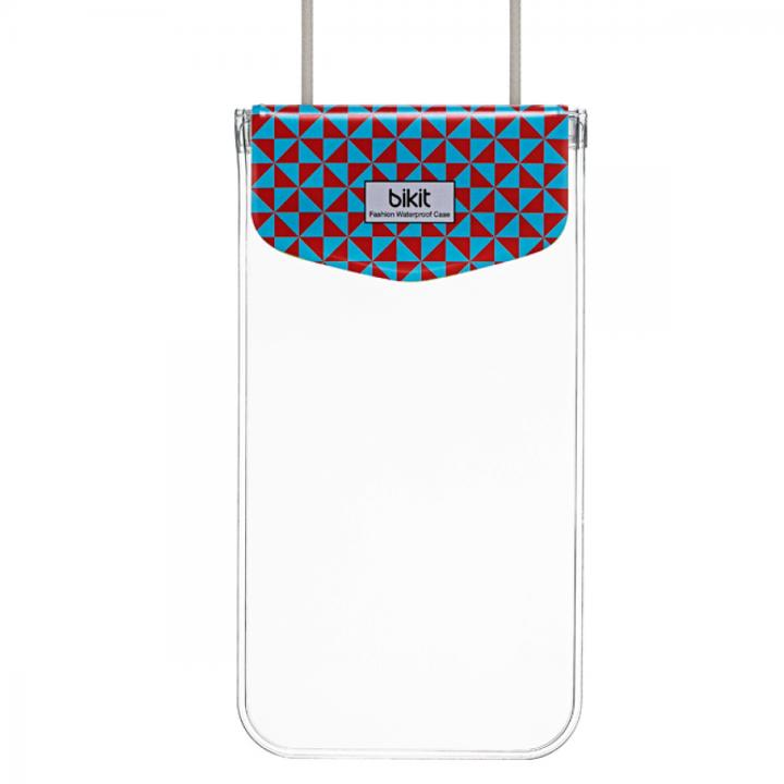 【iPhone SE/6/6 Plusケース】bikit スマートフォン用ファッション防水ポーチ カジュアル ビッグ ブルーダイアモンド_0