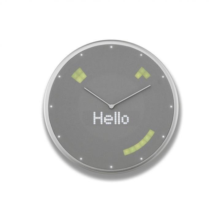 Glance Clock ハイブリッドIoT壁掛け時計 Silver_0