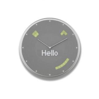 Glance Clock ハイブリッドIoT壁掛け時計 Silver【10月下旬】
