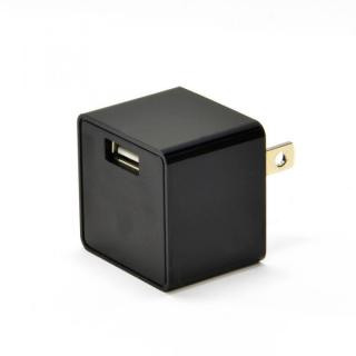 コンパクトなキューブ型 USB充電器 cubeタイプ 112 ブラック