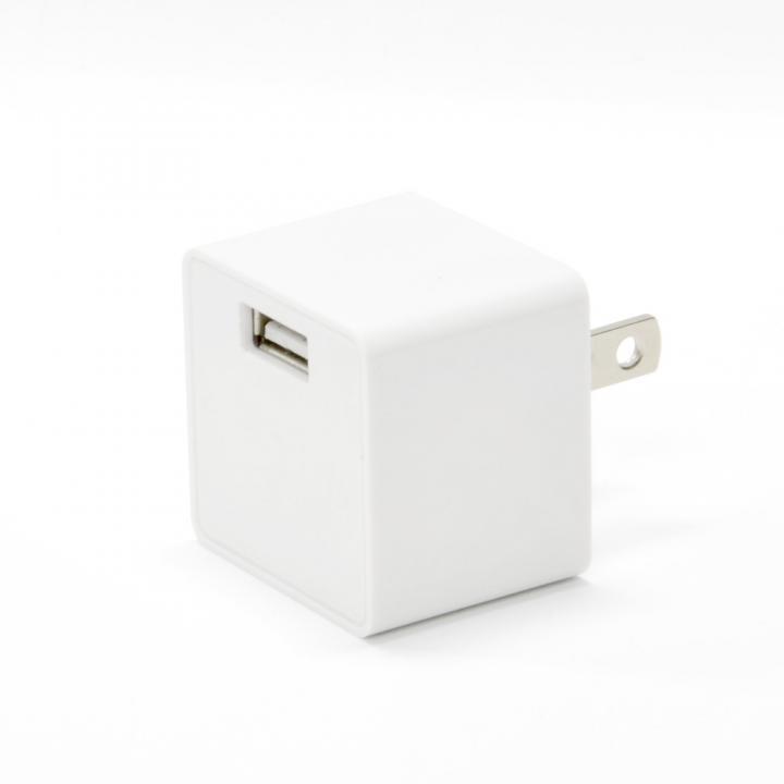 コンパクトなキューブ型 USB充電器 cubeタイプ 112 ホワイト