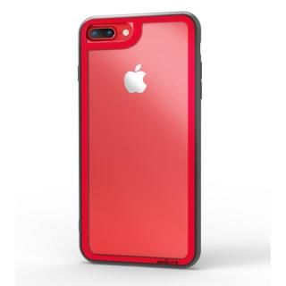 iPhone8 Plus/7 Plus ケース LINKASE CLEAR Gorilla Glass レッド iPhone 8 Plus/7 Plus