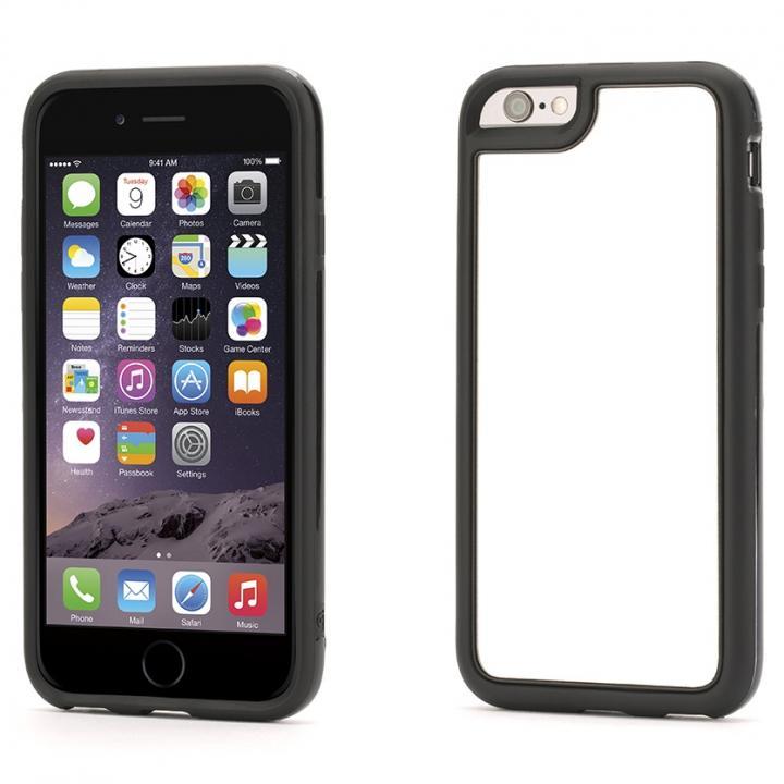 【iPhone6ケース】Identity 防砕性ガラス使用 バックミラーケース ブラック iPhone 6_0