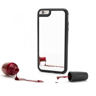 【iPhone6ケース】Identity 防砕性ガラス使用 バックミラーケース ブラック iPhone 6_2
