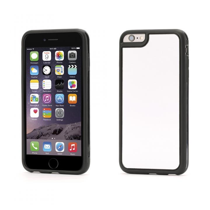 Identity 防砕性ガラス使用 バックミラーケース ブラック iPhone 6 Plus