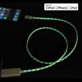 [80cm]光るLightning ケーブル MFI取得 Eureka Luminous Spec2 グリーン