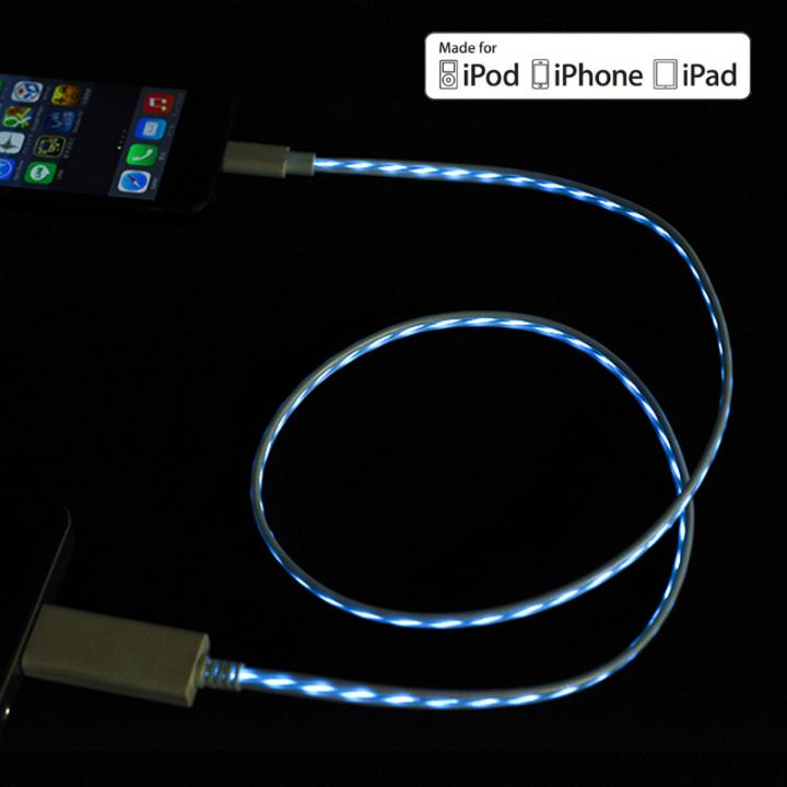 [80cm]光るLightning ケーブル MFI取得 Eureka Luminous Spec2 ブルー