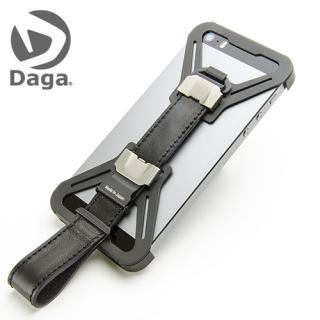 【iPhone SE/5s/5ケース】Sling-5 レザーベルト仕様 CERA BLACK 革ブラック/PPレッド iPhone 5s/5 ケース