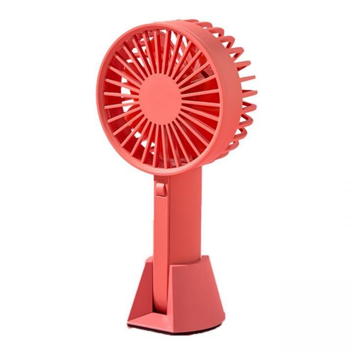 VH  ハンディー USB ファン 扇風機 ピンク_0