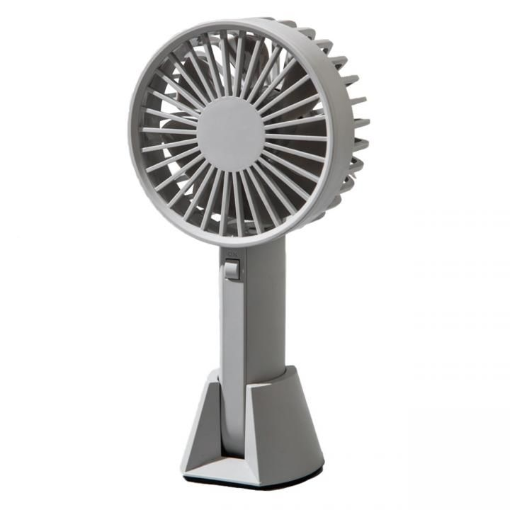 VH  ハンディー USB ファン 扇風機 グレイ【5月中旬】_0