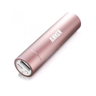[3000mAh]バックにすっきり収まるスティック型 Anker Astro Mini モバイルバッテリー ピンク