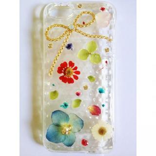 【iPhone SE/5s/5ケース】ブーケを纏ったリボンのクリアソフトケース iPhone 5ケース