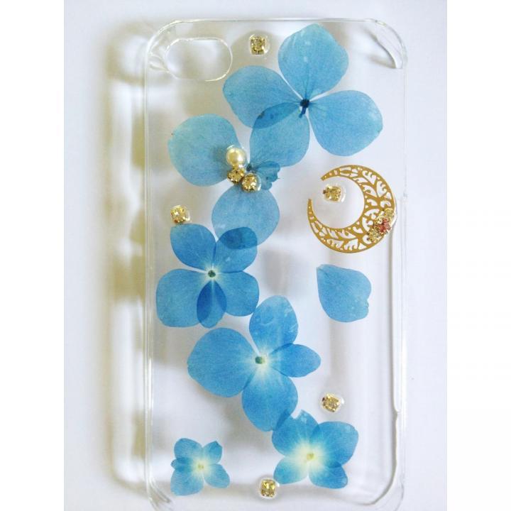 鮮やかな青い紫陽花のクリアハードケース iPhone 4s/4ケース