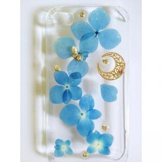 【その他のiPhone/iPodケース】鮮やかな青い紫陽花のクリアハードケース iPhone 4s/4ケース