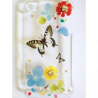 【その他のiPhone/iPodケース】花畑に舞うアゲハのクリアハードケース iPhone 4s/4ケース
