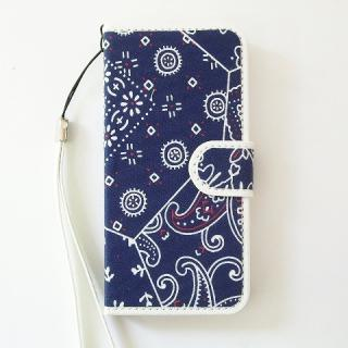 【iPhone SE/5s/5ケース】スマホの洋服屋 カーチフ-ネイビー iPhone SE/5s/5 手帳型ケース