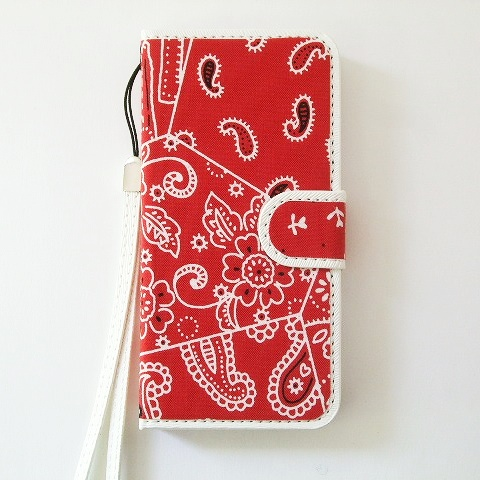 iPhone SE/5s/5 ケース スマホの洋服屋 カーチフ-レッド iPhone SE/5s/5 手帳型ケース_0
