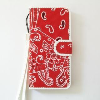 iPhone SE/5s/5 ケース スマホの洋服屋 カーチフ-レッド iPhone SE/5s/5 手帳型ケース
