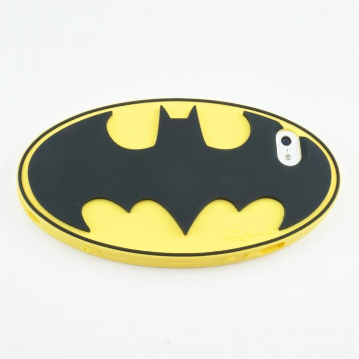 【iPhone SE/5s/5ケース】バットマン iPhone5専用 シリコンカバー ロゴYE_0