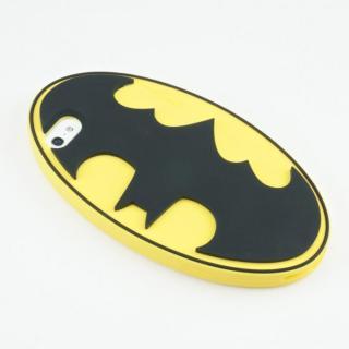 【iPhone SE/5s/5ケース】バットマン iPhone5専用 シリコンカバー ロゴYE_2