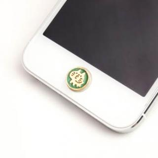 暗闇で光る 蓄光ボタンステッカー チューネコ/ブルー iPhone/iPad