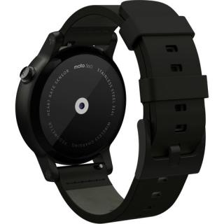 タイムリーに情報を把握 スマートウォッチ iOS対応 Moto 360 Mens 42mm ブラック/ブラックレザー_4