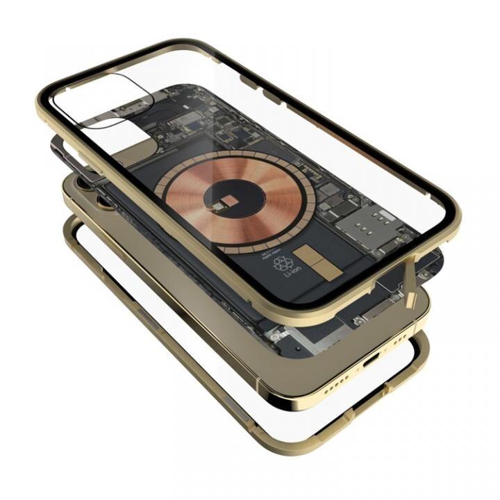 Transparent Alluminio 2020 ゴリラガラス+アルミバンパー ゴールド iPhone 12/12 Pro_0