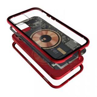 iPhone 12 / iPhone 12 Pro (6.1インチ) ケース Transparent Alluminio 2020 ゴリラガラス+アルミバンパー レッド iPhone 12/12 Pro