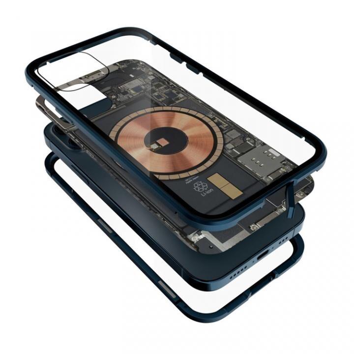 Transparent Alluminio 2020 ゴリラガラス+アルミバンパー ブルー iPhone 12/12 Pro_0