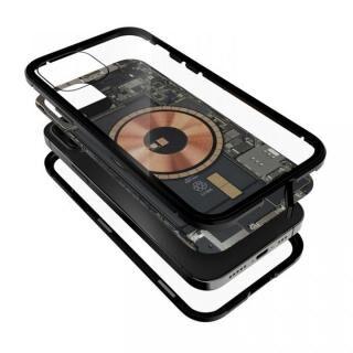 iPhone 12 / iPhone 12 Pro (6.1インチ) ケース Transparent Alluminio 2020 ゴリラガラス+アルミバンパー ブラック iPhone 12/12 Pro