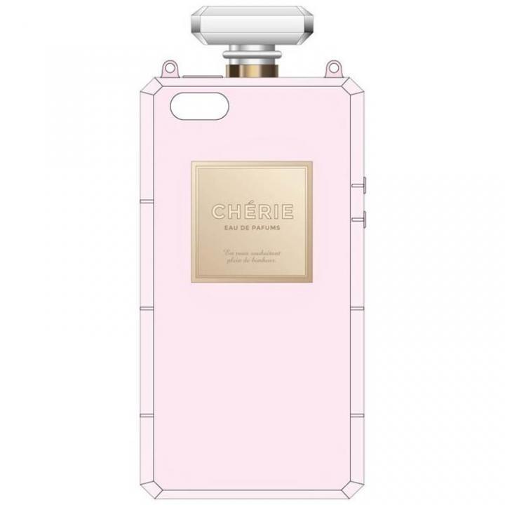 iPhone SE/5s/5 ケース 肩掛けできるチェーン付き 香水瓶風ケース ピンク iPhone SE/5s/5ケース_0