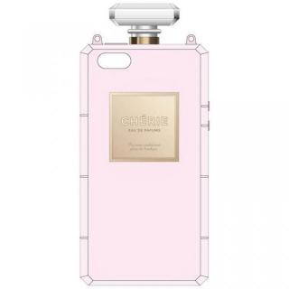 肩掛けできるチェーン付き 香水瓶風ケース ピンク iPhone SE/5s/5ケース